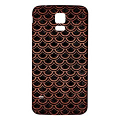 Scales2 Black Marble & Copper Brushed Metal Samsung Galaxy S5 Back Case (white) by trendistuff