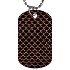 Scales1 Black Marble & Copper Brushed Metal Dog Tag (one Side) by trendistuff