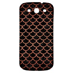 Scales1 Black Marble & Copper Brushed Metal Samsung Galaxy S3 S Iii Classic Hardshell Back Case by trendistuff