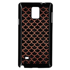 Scales1 Black Marble & Copper Brushed Metal Samsung Galaxy Note 4 Case (black) by trendistuff