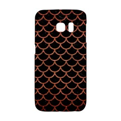 Scales1 Black Marble & Copper Brushed Metal Samsung Galaxy S6 Edge Hardshell Case by trendistuff