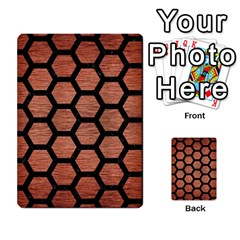 Hexagon2 Black Marble & Copper Brushed Metal (r) Multi Purpose Cards (rectangle) by trendistuff