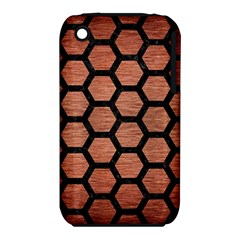 Hexagon2 Black Marble & Copper Brushed Metal (r) Apple Iphone 3g/3gs Hardshell Case (pc+silicone) by trendistuff
