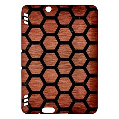 Hexagon2 Black Marble & Copper Brushed Metal (r) Kindle Fire Hdx Hardshell Case by trendistuff