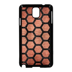 Hexagon2 Black Marble & Copper Brushed Metal (r) Samsung Galaxy Note 3 Neo Hardshell Case (black)