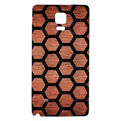 Hexagon2 Black Marble & Copper Brushed Metal (r) Samsung Note 4 Hardshell Back Case by trendistuff