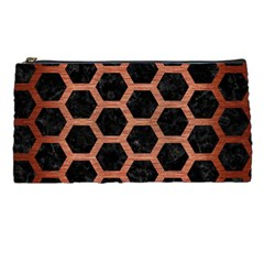 Hexagon2 Black Marble & Copper Brushed Metal Pencil Case by trendistuff