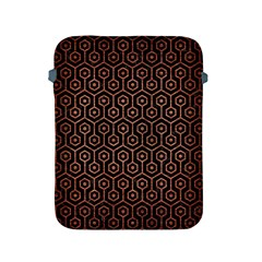 Hexagon1 Black Marble & Copper Brushed Metal Apple Ipad 2/3/4 Protective Soft Case by trendistuff
