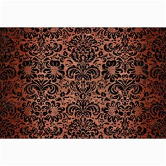 Damask2 Black Marble & Copper Brushed Metal (r) Collage 12  X 18  by trendistuff
