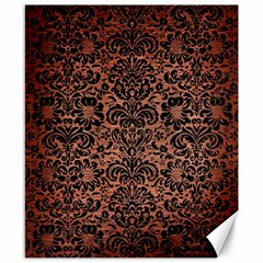 Damask2 Black Marble & Copper Brushed Metal (r) Canvas 8  X 10  by trendistuff