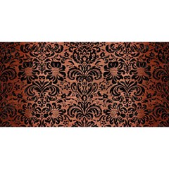 Damask2 Black Marble & Copper Brushed Metal (r) You Are Invited 3d Greeting Card (8x4) by trendistuff