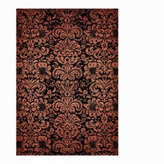 Damask2 Black Marble & Copper Brushed Metal Small Garden Flag (two Sides) by trendistuff