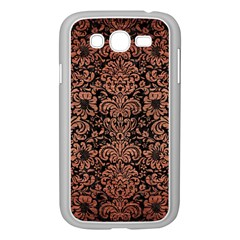 Damask2 Black Marble & Copper Brushed Metal Samsung Galaxy Grand Duos I9082 Case (white) by trendistuff