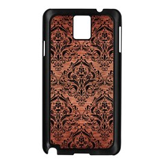 Damask1 Black Marble & Copper Brushed Metal (r) Samsung Galaxy Note 3 N9005 Case (black) by trendistuff