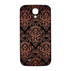 Damask1 Black Marble & Copper Brushed Metal Samsung Galaxy S4 I9500/i9505  Hardshell Back Case by trendistuff