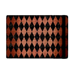 Diamond1 Black Marble & Copper Brushed Metal Apple Ipad Mini Flip Case by trendistuff