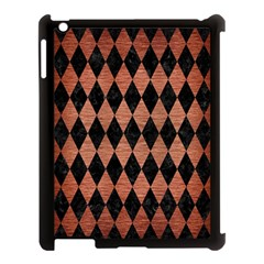 Diamond1 Black Marble & Copper Brushed Metal Apple Ipad 3/4 Case (black) by trendistuff
