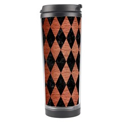 Diamond1 Black Marble & Copper Brushed Metal Travel Tumbler by trendistuff