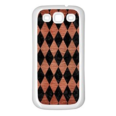 Diamond1 Black Marble & Copper Brushed Metal Samsung Galaxy S3 Back Case (white) by trendistuff