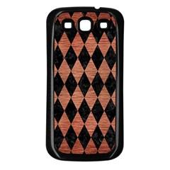 Diamond1 Black Marble & Copper Brushed Metal Samsung Galaxy S3 Back Case (black) by trendistuff