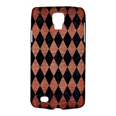 Diamond1 Black Marble & Copper Brushed Metal Samsung Galaxy S4 Active (i9295) Hardshell Case by trendistuff