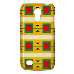 Connected Squares And Triangles 			samsung Galaxy S4 Mini (gt I9190) Hardshell Case by LalyLauraFLM