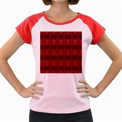 Brown Diamonds Pattern Women s Cap Sleeve T Shirt
