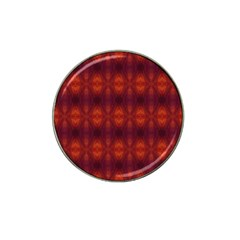 Brown Diamonds Pattern Hat Clip Ball Marker by Costasonlineshop