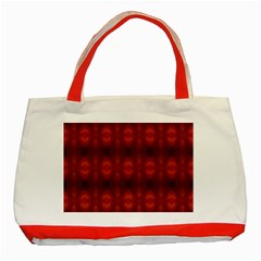 Brown Diamonds Pattern Classic Tote Bag (red) by Costasonlineshop