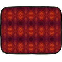 Brown Diamonds Pattern Double Sided Fleece Blanket (mini)