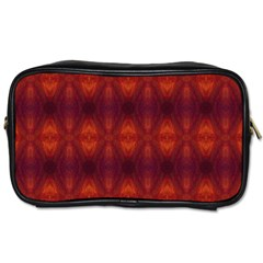 Brown Diamonds Pattern Toiletries Bags by Costasonlineshop