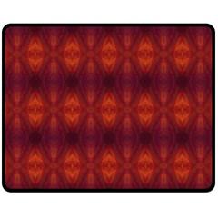 Brown Diamonds Pattern Fleece Blanket (medium)  by Costasonlineshop