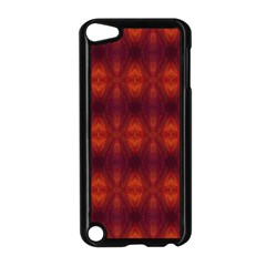 Brown Diamonds Pattern Apple Ipod Touch 5 Case (black) by Costasonlineshop