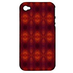 Brown Diamonds Pattern Apple Iphone 4/4s Hardshell Case (pc+silicone) by Costasonlineshop