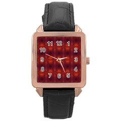 Brown Diamonds Pattern Rose Gold Watches