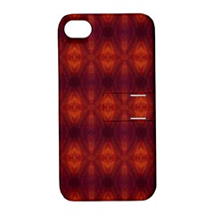 Brown Diamonds Pattern Apple Iphone 4/4s Hardshell Case With Stand by Costasonlineshop