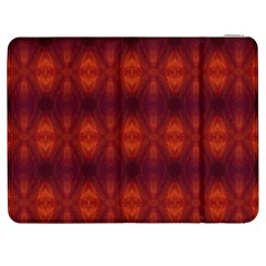 Brown Diamonds Pattern Samsung Galaxy Tab 7  P1000 Flip Case by Costasonlineshop
