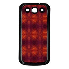Brown Diamonds Pattern Samsung Galaxy S3 Back Case (Black) by Costasonlineshop
