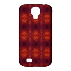 Brown Diamonds Pattern Samsung Galaxy S4 Classic Hardshell Case (pc+silicone)