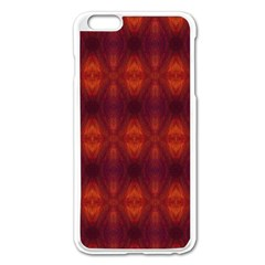Brown Diamonds Pattern Apple Iphone 6 Plus/6s Plus Enamel White Case