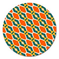 Chains And Squares Pattern 			magnet 5  (round) by LalyLauraFLM