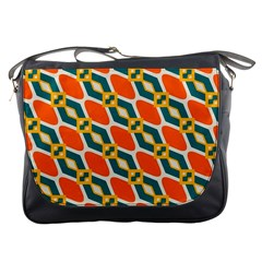 Chains And Squares Pattern messenger Bag by LalyLauraFLM