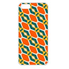 Chains And Squares Pattern 			apple Iphone 5 Seamless Case (white) by LalyLauraFLM
