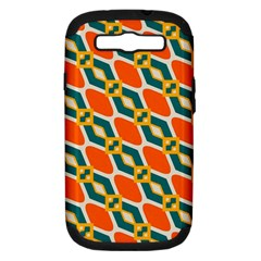 Chains And Squares Pattern samsung Galaxy S Iii Hardshell Case (pc+silicone) by LalyLauraFLM