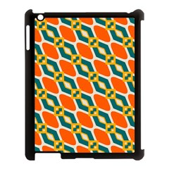 Chains And Squares Pattern 			apple Ipad 3/4 Case (black) by LalyLauraFLM