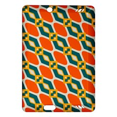 Chains And Squares Pattern 			kindle Fire Hd (2013) Hardshell Case by LalyLauraFLM