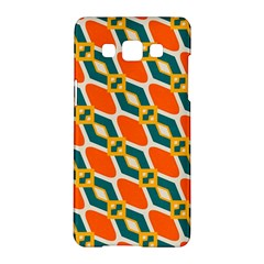 Chains And Squares Pattern 			samsung Galaxy A5 Hardshell Case by LalyLauraFLM