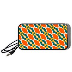 Chains And Squares Pattern Portable Speaker by LalyLauraFLM