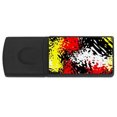 Glass Texture  usb Flash Drive Rectangular (4 Gb) by LalyLauraFLM
