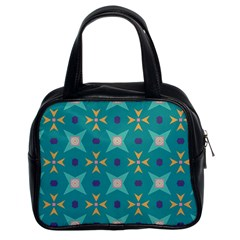 Flowers And Stars Pattern   Classic Handbag (two Sides) by LalyLauraFLM